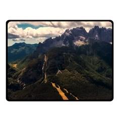 Italy Valley Canyon Mountains Sky Fleece Blanket (small)