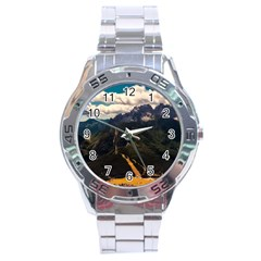 Italy Valley Canyon Mountains Sky Stainless Steel Analogue Watch