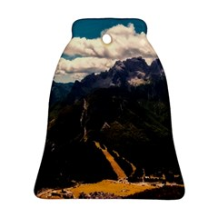 Italy Valley Canyon Mountains Sky Ornament (bell)