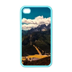 Italy Valley Canyon Mountains Sky Apple Iphone 4 Case (color)