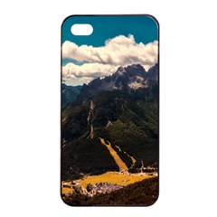Italy Valley Canyon Mountains Sky Apple Iphone 4/4s Seamless Case (black)