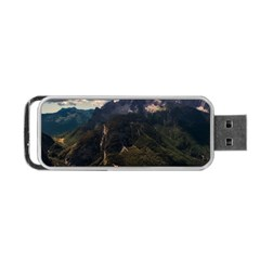 Italy Valley Canyon Mountains Sky Portable Usb Flash (one Side)