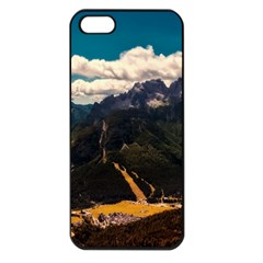Italy Valley Canyon Mountains Sky Apple Iphone 5 Seamless Case (black)