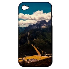 Italy Valley Canyon Mountains Sky Apple Iphone 4/4s Hardshell Case (pc+silicone)
