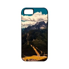Italy Valley Canyon Mountains Sky Apple Iphone 5 Classic Hardshell Case (pc+silicone)