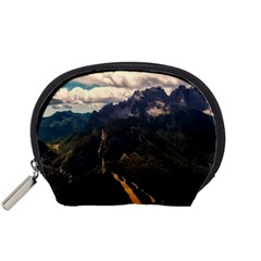 Italy Valley Canyon Mountains Sky Accessory Pouches (small)