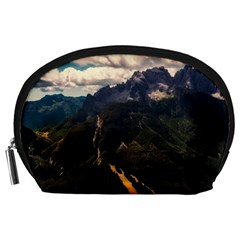 Italy Valley Canyon Mountains Sky Accessory Pouches (large)
