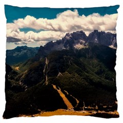 Italy Valley Canyon Mountains Sky Large Flano Cushion Case (one Side)