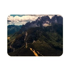 Italy Valley Canyon Mountains Sky Double Sided Flano Blanket (mini)