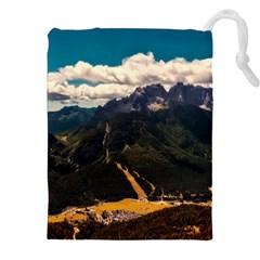 Italy Valley Canyon Mountains Sky Drawstring Pouches (xxl)