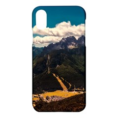 Italy Valley Canyon Mountains Sky Apple Iphone X Hardshell Case
