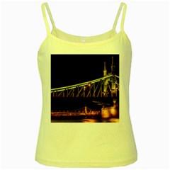 Budapest Hungary Liberty Bridge Yellow Spaghetti Tank