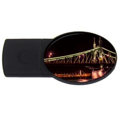 Budapest Hungary Liberty Bridge Usb Flash Drive Oval (4 Gb)