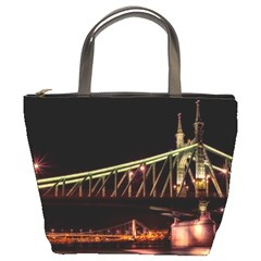 Budapest Hungary Liberty Bridge Bucket Bags