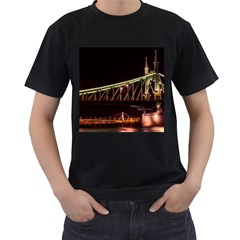 Budapest Hungary Liberty Bridge Men s T Shirt (black)