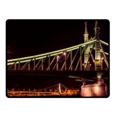 Budapest Hungary Liberty Bridge Fleece Blanket (small)