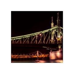 Budapest Hungary Liberty Bridge Acrylic Tangram Puzzle (4  X 4 )