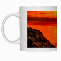 Alabama Sunset Dusk Boat Fishing White Mugs