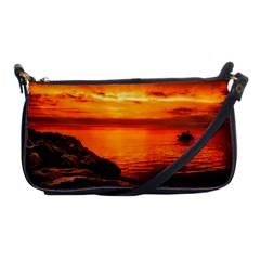 Alabama Sunset Dusk Boat Fishing Shoulder Clutch Bags