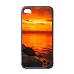 Alabama Sunset Dusk Boat Fishing Apple Iphone 4 Case (black)