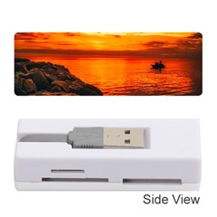 Alabama Sunset Dusk Boat Fishing Memory Card Reader (stick)