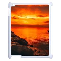 Alabama Sunset Dusk Boat Fishing Apple Ipad 2 Case (white)