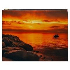 Alabama Sunset Dusk Boat Fishing Cosmetic Bag (xxxl)
