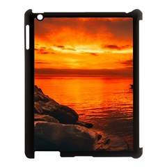 Alabama Sunset Dusk Boat Fishing Apple Ipad 3/4 Case (black)