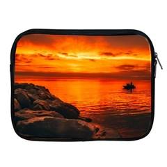 Alabama Sunset Dusk Boat Fishing Apple Ipad 2/3/4 Zipper Cases