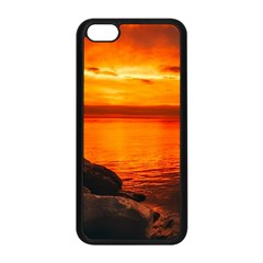 Alabama Sunset Dusk Boat Fishing Apple Iphone 5c Seamless Case (black)