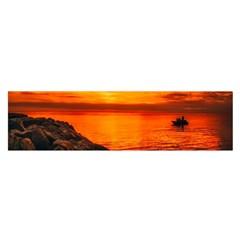 Alabama Sunset Dusk Boat Fishing Satin Scarf (oblong)