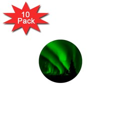 Aurora Borealis Northern Lights 1  Mini Magnet (10 Pack)