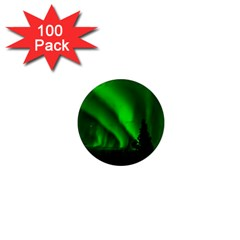 Aurora Borealis Northern Lights 1  Mini Magnets (100 Pack)