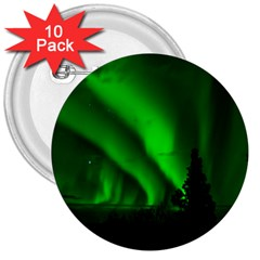 Aurora Borealis Northern Lights 3  Buttons (10 Pack)