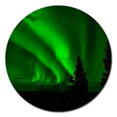 Aurora Borealis Northern Lights Magnet 5  (round)