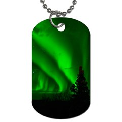 Aurora Borealis Northern Lights Dog Tag (two Sides)