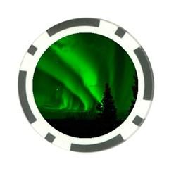 Aurora Borealis Northern Lights Poker Chip Card Guard (10 Pack)