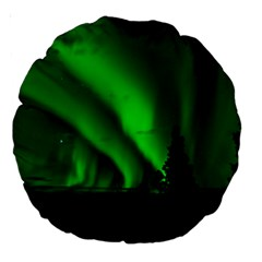 Aurora Borealis Northern Lights Large 18  Premium Round Cushions