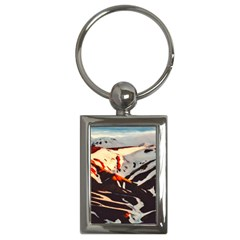 Iceland Landscape Mountains Snow Key Chains (rectangle)
