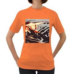 Iceland Landscape Mountains Snow Women s Dark T Shirt