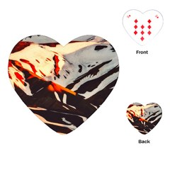 Iceland Landscape Mountains Snow Playing Cards (heart)