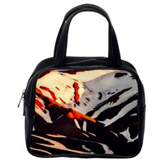Iceland Landscape Mountains Snow Classic Handbags (one Side)