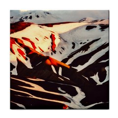 Iceland Landscape Mountains Snow Face Towel