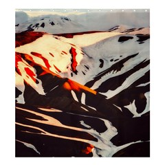 Iceland Landscape Mountains Snow Shower Curtain 66  X 72  (large)