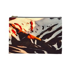 Iceland Landscape Mountains Snow Cosmetic Bag (large)