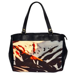 Iceland Landscape Mountains Snow Office Handbags (2 Sides)