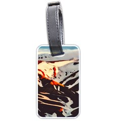 Iceland Landscape Mountains Snow Luggage Tags (one Side)