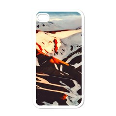 Iceland Landscape Mountains Snow Apple Iphone 4 Case (white)