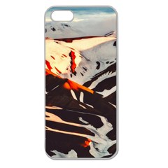Iceland Landscape Mountains Snow Apple Seamless Iphone 5 Case (clear)