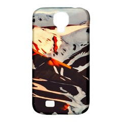 Iceland Landscape Mountains Snow Samsung Galaxy S4 Classic Hardshell Case (pc+silicone)